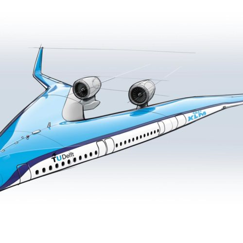 KLM to help fund Flying-V plane, where passengers fly in the wings