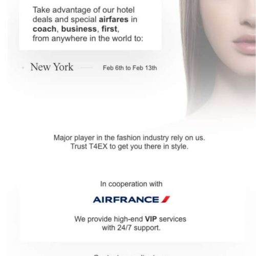 Special airfares and hotel deals for the Fall '20 Fashion Week in New York…