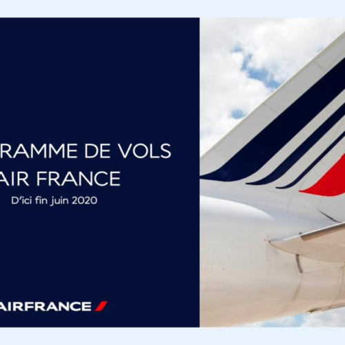 Air France's flight schedule as of June 30th 2020