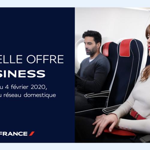 Air France : classe affaires pour les vols intérieurs et court-courrier